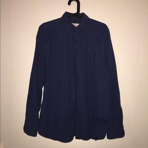Small Dark Blue Men's Button Down Shirt